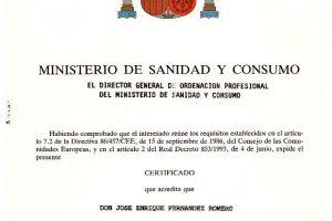 enrique-fernandez-titulacion-ministerio-sanidad-consumo